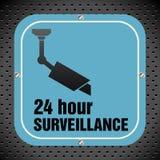 Surveillance plate Stock Image