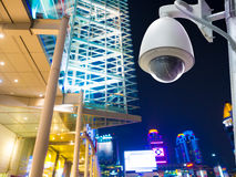 Surveillance Security Camera or CCTV in shopping mall Stock Photography