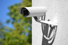 Surveillance, security camera, monitoring, CCTV Royalty Free Stock Images