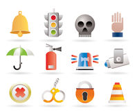 Surveillance and Security Icons Royalty Free Stock Photos