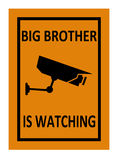 Surveillance sign Royalty Free Stock Images