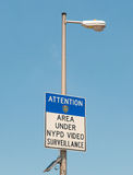 Surveillance sign Stock Image