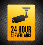 Surveillance sign Stock Photos
