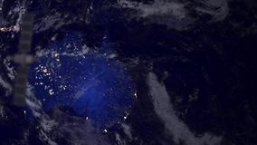Surveillance spy Telecommunication satellite over Australia stock video footage