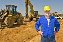 Surveillance sur le chantier de construction Images libres de droits