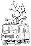 Surveillance Van Cartoon Illustration Libre de Droits