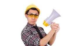 Surveillant de construction Photos libres de droits