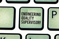 Surveillant de production et d'entretien des textes d'écriture Concept signifiant l'intention principale de Keyboard d'ingénieur  image stock