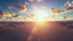 Surveilling Militärbrummen, Wolken bei Sonnenuntergang vektor abbildung