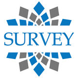 Survey Blue Grey Circular Stock Photos