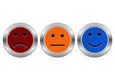 Survey Buttons (business customer service feedback concept) Stock Photo