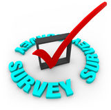 Survey Check Mark and Box Stock Image