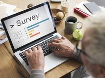 Survey Comment Review Ratings Concept. People Making Survey Comment Review Ratings royalty free stock images
