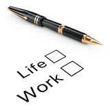 Survey Concept. Life or Work Checklist with Golden Fountain Writ Royalty Free Stock Images