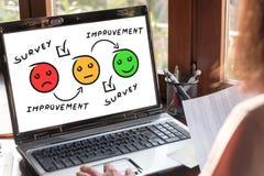 Free Survey Concept On A Laptop Screen Royalty Free Stock Photos - 216005608