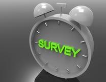 Survey 3d word concept Stock Photos