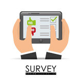 Survey design, vector illlustration. Stock Photos