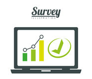 Survey design, vector illlustration. Royalty Free Stock Photo