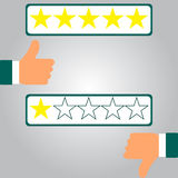 Survey design. Vector illustration in flat style Royalty Free Stock Images