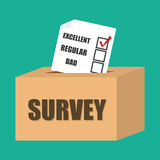 Survey design, vector illustration. Stock Images
