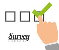 Survey design, vector illustration. Stock Photography