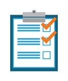 Survey design, vector illustration. Royalty Free Stock Image
