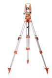 Survey equipment theodolite on a tripod Royalty Free Stock Image