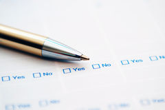 Survey form Royalty Free Stock Photography