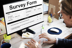 Survey Form Research Poll Form Concept Stock Photos