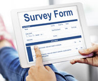 Survey Form Research Poll Form Concept Royalty Free Stock Images