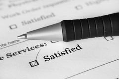 Survey form- satisfied Royalty Free Stock Photo
