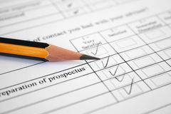 Survey form- very satisfied. Royalty Free Stock Image