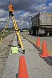Survey on the highway Stock Image