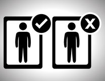 Survey icon design Stock Images