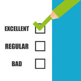 Survey icon design Royalty Free Stock Images
