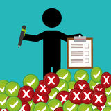 Survey icon design Stock Image