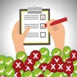 Survey icon design Royalty Free Stock Image