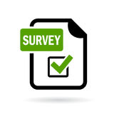 Survey icon Stock Images