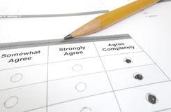 Survey macro Royalty Free Stock Photography