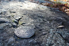 Survey Marker- Cat Rock Hill Stock Image