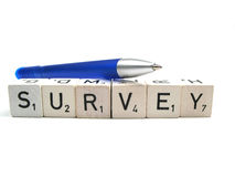 Survey and pen Royalty Free Stock Image