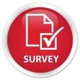 Survey premium red round button Stock Images