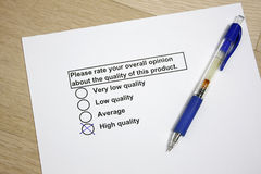 Survey of product quality Royalty Free Stock Images