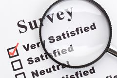 Business Survey and questionnaire. Survey and questionnaire, business concept stock image