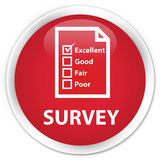 Survey (questionnaire icon) premium red round button Royalty Free Stock Images
