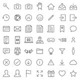 Survey and Questionnaire vector icon set. Included the icons as checklist, poll, vote, mobile, online survey, phone interview, res. Ult and more Royalty Free Stock Photography