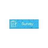 Survey rectangle button Stock Photography