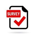 Survey red icon. Vector illustration Stock Image