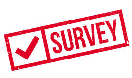 Survey rubber stamp Royalty Free Stock Photo