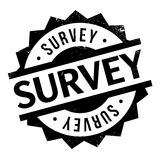 Survey rubber stamp Stock Photo